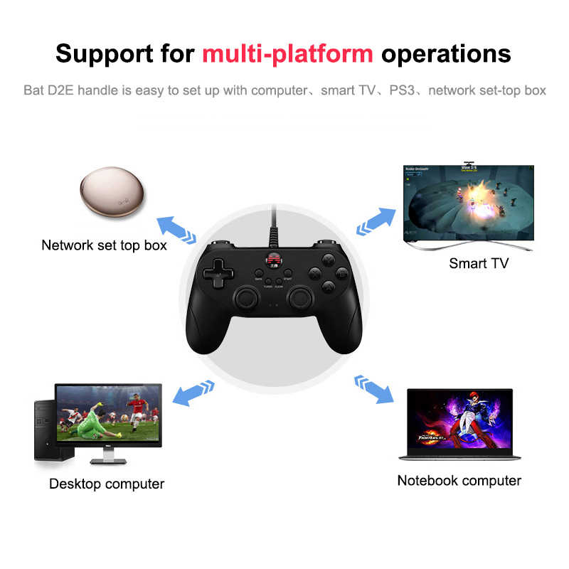 Gamepad For PlayStation3 PC Android Wireless/Wired Game Controller With  Joystick For Windows Steam PS3