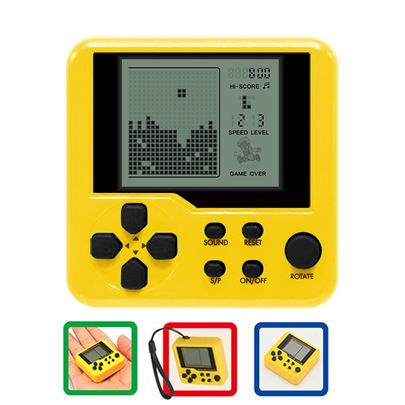 Ultra-small mini Tetris Children handheld game console Portable LCD Players Children Toy Educational Electronic Toys
