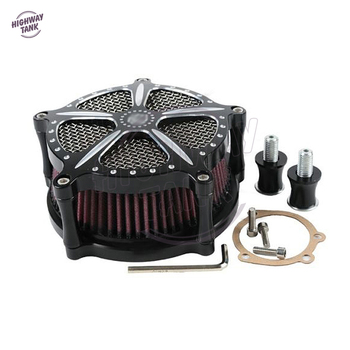 Black Motorcycle Air Cleaner Intake Filter System Speed-5 case for Harley Forty Eight 2010 2011 2012 2013 2014