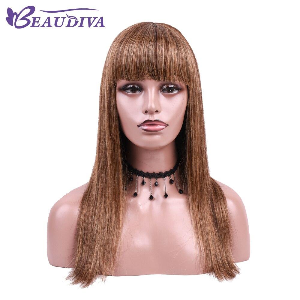 Peruvian Straight Human Hair Wigs P4 27 Mechine Made Peruvian Hair Wigs 14 20 Shedding Free