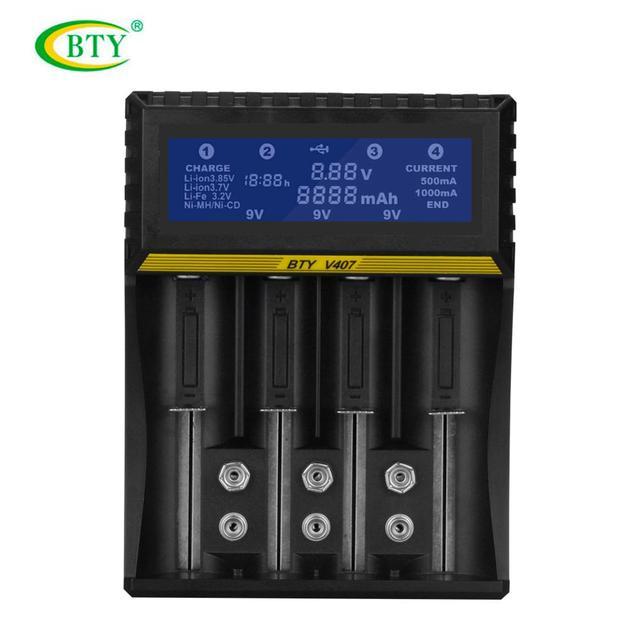 4 فتحات متعددة الوظائف شاحن بطارية ليثيوم أيون ليثيوم الحديد متولى حسن ني CD الشواحن الذكية ل AA/AAA/ 18650/26650/6F22/16340/9 V البطارية