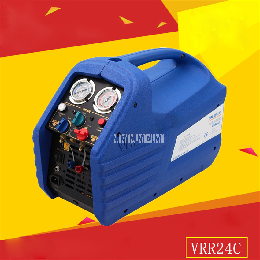 New Arrival VRR24C Double Cylinder Refrigerant Recovery Machine 220 240VAC 50 / 60Hz 5A 1750rpm 1HP Motor 0 40 Degrees Hot Sale