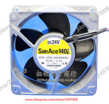 Free Shipping For Sanyo  109L1424H501  DC 24V 0.6A 2-wire 120mm, 120x120x51mm Server Square fan