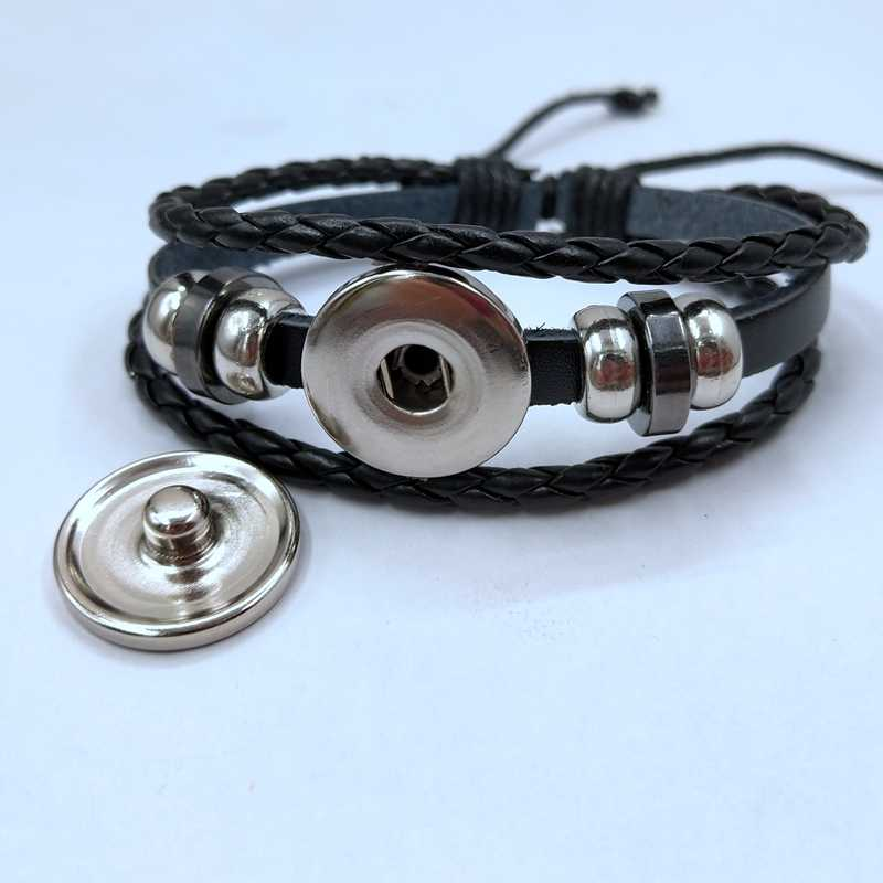 HOT! Botão pulseira de couro tecido pulseira De Vidro Lua do Lobo Da Lua do lobo Lua Cheia de Jóias Pingente de Lobo Lobo pulseira