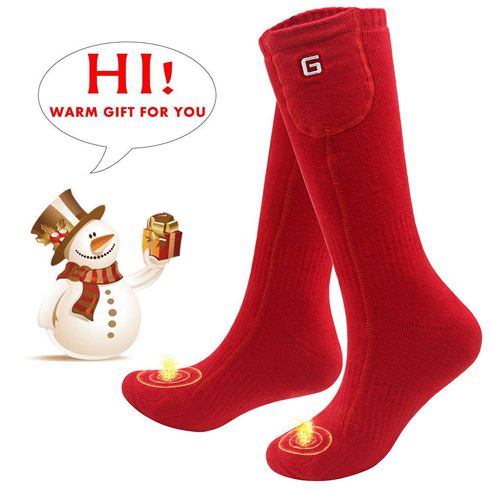 Cold Winter Rechargeable Electric Heated Socks for US Size 5-9 Cold Foot As a Gift for Sleeping Hiking skiing snowing