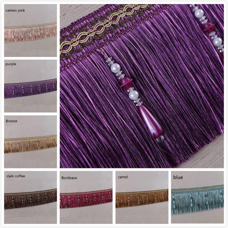 Luxury Exquisite Beaded Tassel Trim Fringe Braid Trimming Wedding Upholstery Fabric Ribbon Sewing