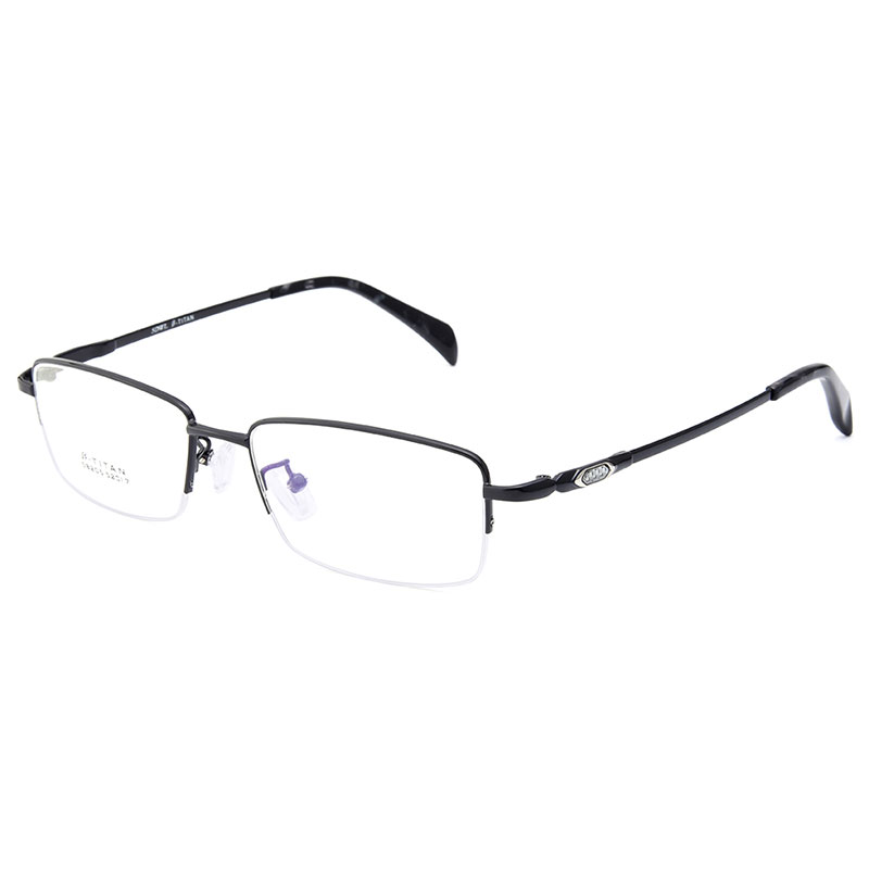 db3323720c Gmei Optical S8205 Alloy Metal Semi Rimless Eyeglasses Frame for Men  Prescription Optical Eyewear Glasses-in Eyewear Frames from Apparel  Accessories on ...