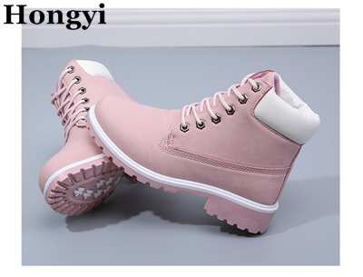 New Winter Fashion Boots Women Shoes for Lady Soft Leather Boots Pink Brand Hongyi Martin Boots Breathable Black Wine Booty the new pink wine rack high end modern soft furnishings personalized pink wine resin crafts big quantity best price
