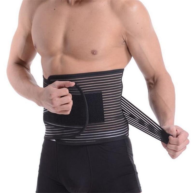 Ortopédico Corsé Cinturón de soporte para la espalda Hombres Volver Brace cinturón Fajas Lumbares Ortopédicas Cinturón de soporte de la columna vertebral de gran tamaño XXL B13
