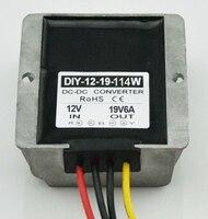 12V (9V 18V) Step Up To 19V 6A 114W DC DC Converter Boost Power Module For Laptops Car Power Supply Adapter Regulator Waterproof