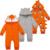 Macacão Macacão de Bebê Recém-nascido Cottton Manga Comprida Com Capuz dos desenhos animados Do Bebê Recém-nascido Macacão Infantil Primavera Outono Dos Desenhos Animados Macacão