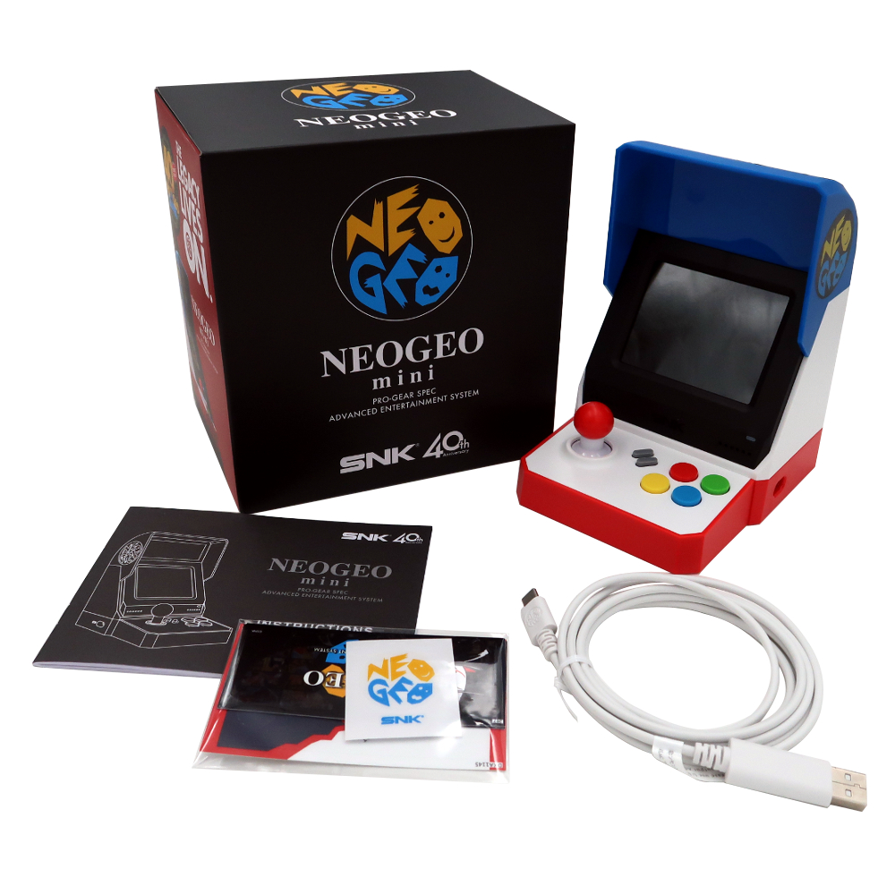 For SNK NeoGeo Mini Game Console 3.5 Inch Aracade Retro Handheld Game With 40 Legendary For NEOGEO Titles For SNK 40Th