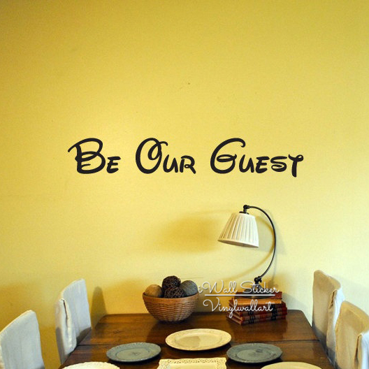 Be Our Guest Quote Wall Sticker Family Quotes Wall Decal Home Wall Quotes DIY Easy Wall Art Cut Vinyl Q191-in Wall Stickers from Home u0026 Garden on ... & Be Our Guest Quote Wall Sticker Family Quotes Wall Decal Home Wall ...