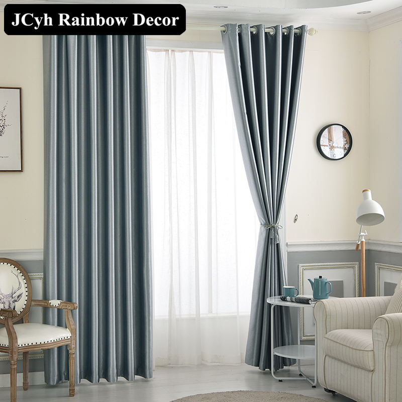 Modern Solid Color Blackout Curtains For Living Room High