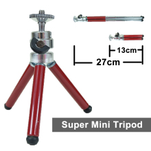 New Mini tripod Alloy Aluminum Portable Travel Professional Tripod Universal Digital Camera Phone Smartphone with phone holder