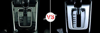 Matt Interior Gear Box Panel Cover Trim 2pcs For Nissan Sentra Sylphy 2016