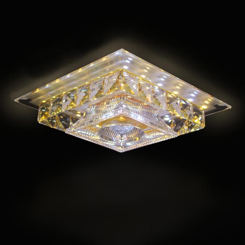 Современные хрустальные светодиодный потолочный светильник 12 Вт потолке/встраиваемые квадратных кристалл лампы проход гостиная балкон пр...
