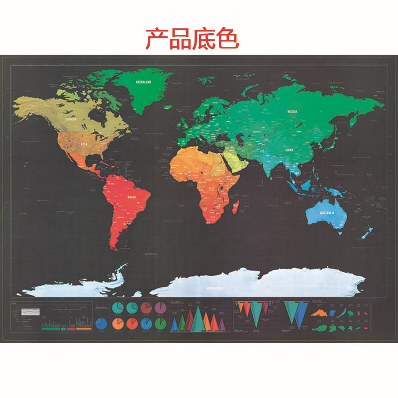 Mapa do Mundo Mapa 42x30 Como Presente Bonito