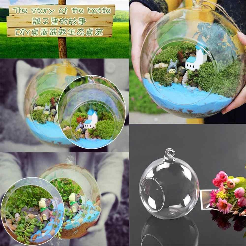 Diamètre 8cm suspendus verre Vase fleurs plante Table Vase support Terrarium conteneur fait à la main artisanat cadeau mariage décor Vase