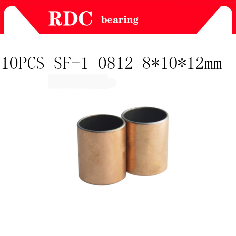 Buy Free shipping 10pcs SF-1 0812 8x10x12 mm High quality Self Lubricating Composite Bearing Bushing Sleeve SF1