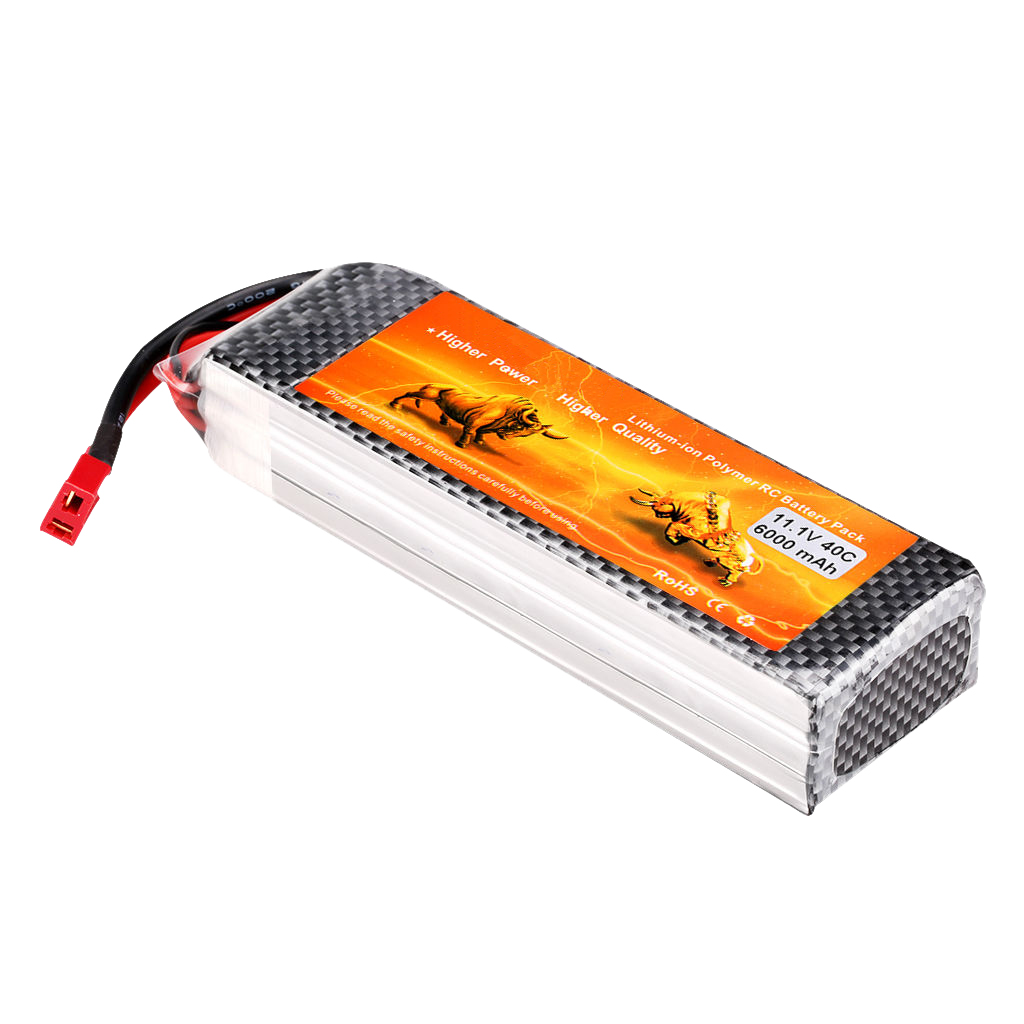 Rechargeable 6000mAh 11.1V 40C 3S LiPo RC Battery Pack for RC Car Truck Airplane