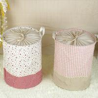 Large Floral Lattice Laundry Hamper Fold Waterproof Of Clothes Storage Baskets Home Clothes Barrel Bags Kids