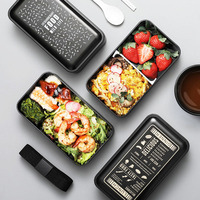 ONEUP Ланч-бокс двухслойный Портативный Bento box экологичный пищевой контейнер с отсеками герметичный Microwavable Bpa бесплатно
