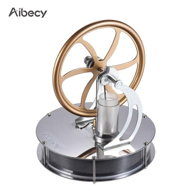Aibecy Lage Temperatuur Stirlingmotor Motor Model Warmte Stoom Onderwijs DIY Model Speelgoed Gift Voor Kids Craft Ornament Ontdekking Speelgoed