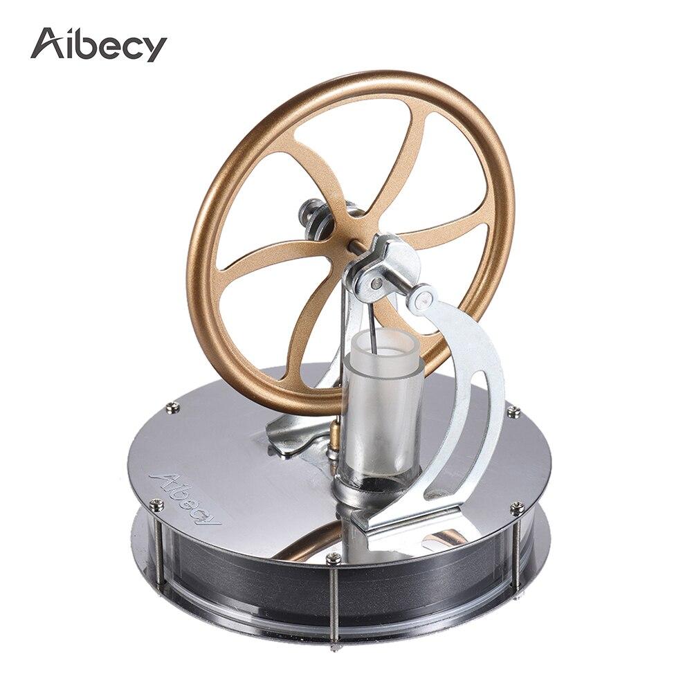 Aibecy de baja temperatura del Motor Stirling modelo de Motor de vapor de calor DIY modelo de juguete de regalo para niños arte adorno descubrimiento juguete