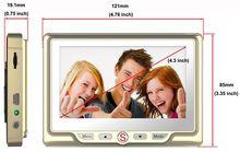 4.3 Inch Peephole LCD Visual Monitor Door Camera Digital Door Peephole Spy Ssilver Eye Video Camera Night Vision