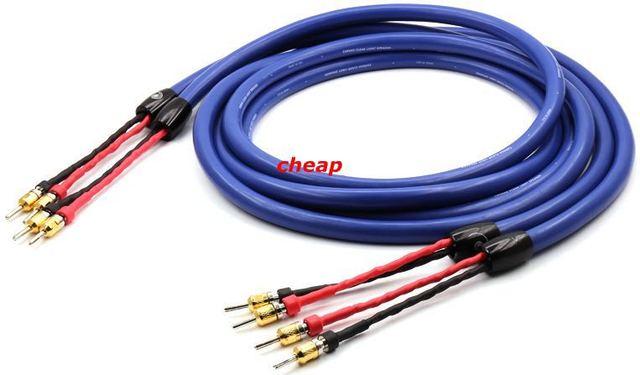 Дешево Бесплатная доставка, Прозрачный Светлый кабель для динамика с вилкой типа «банан»