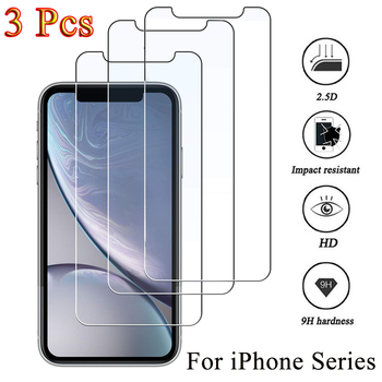 3PCS Protective glass on iphone 11 12 Pro XS Max XR 7 8 plus screen protector Tempered glass For iphone 12 Mini 11 Pro Max glass 1