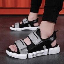 цены на Bonjean Gladiator Men Sandals Summer New Fashion Men Casual Shoes Soft Flats Azy Shoes Loafer Flip Flop Popular Outdoor Sandals  в интернет-магазинах