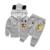 Bebê da Menina 3 pcs/terno Outono Set Roupas Crianças Dos Desenhos Animados Mickey Crianças Meninos Meninas Casaco de Manga Comprida + Shirt + Calças 3 PCS Roupas Definir