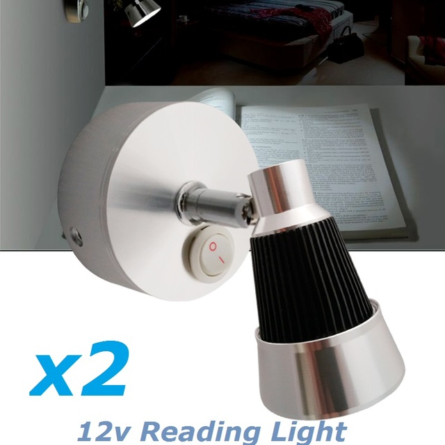Cool Reading Light aliexpress : buy 2x12vdc led rotate reading light cool/warm