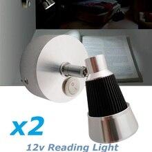 2x12vdc LED повернуть Чтение свет Холодный/теплый белый прикроватной тумбочке поворотный настенное крепление огни книга подкладке лампы НА КОЛЕСАХ КАРАВАН Camper прицепы