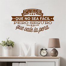 Decorativo Viny Pegatinas De Pared Espaol Famosa Cita Inspiradora Palabras Tatuajes Sticker Home Decor For Living Room