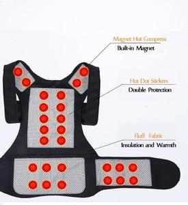 Image 2 - Turmalin samonagrzewający magnetoterapia pas pas wspierający Kneepad ramiona sweter kamizelka kamizelka ciepłe leczenie bólu pleców