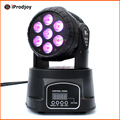 Led Moving Head Wash 7x*12w Mini Music Sound Light Stage Home Christmas Party lumiere Laser Show Disco Dj Dmx Lamp Rgbw Licht