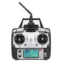 جهاز إرسال واستقبال F14912/3 FS T6 2.4GHz 6CH Mode 2/1 R6 B لطائرة مروحية رباعية RC مع شاشة LED