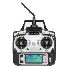 F14912/3 FS-T6 2.4GHz 6CH Mode 2/1 Transmitter and Receiver R6-B for RC Quadcopter Helicopter With LED Screen