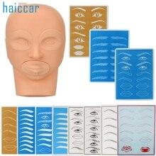 Горячая Лучшее предложение модель головы для практики и практики кожи для перманентной татуировки макияж бровей Набор красивых женщин Nov.30