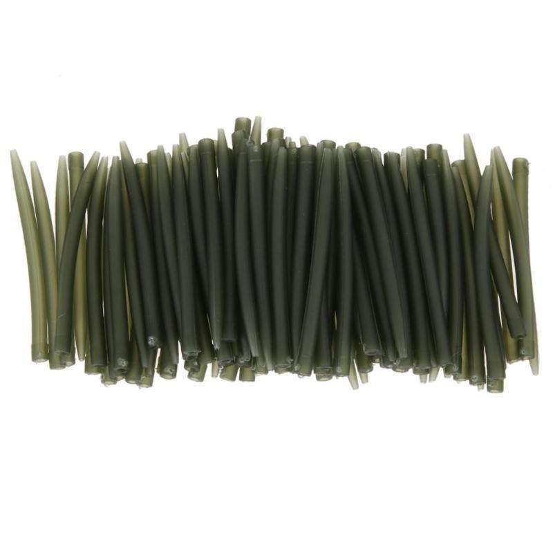 Yihaifu 100pcs Karpfen Angelhaken Sleeve Hair Rig Aligner Sleeves Schlauch Stellungsangel Carp Soft-Anti Tangle Zubeh/ör