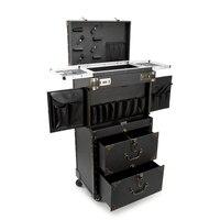 Многофункциональный Новый большой емкости чемодан на колесиках для косметики багаж, многослойная Красивая Татуировка салонов чемодан на к...