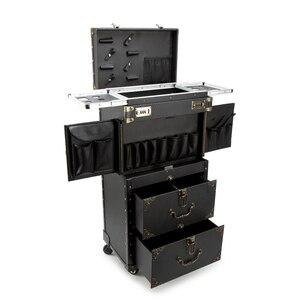 Многофункциональный новый Большой Вместительный косметический чемоданчик на колесиках, многослойный чемоданчик на колесиках для салонов ...