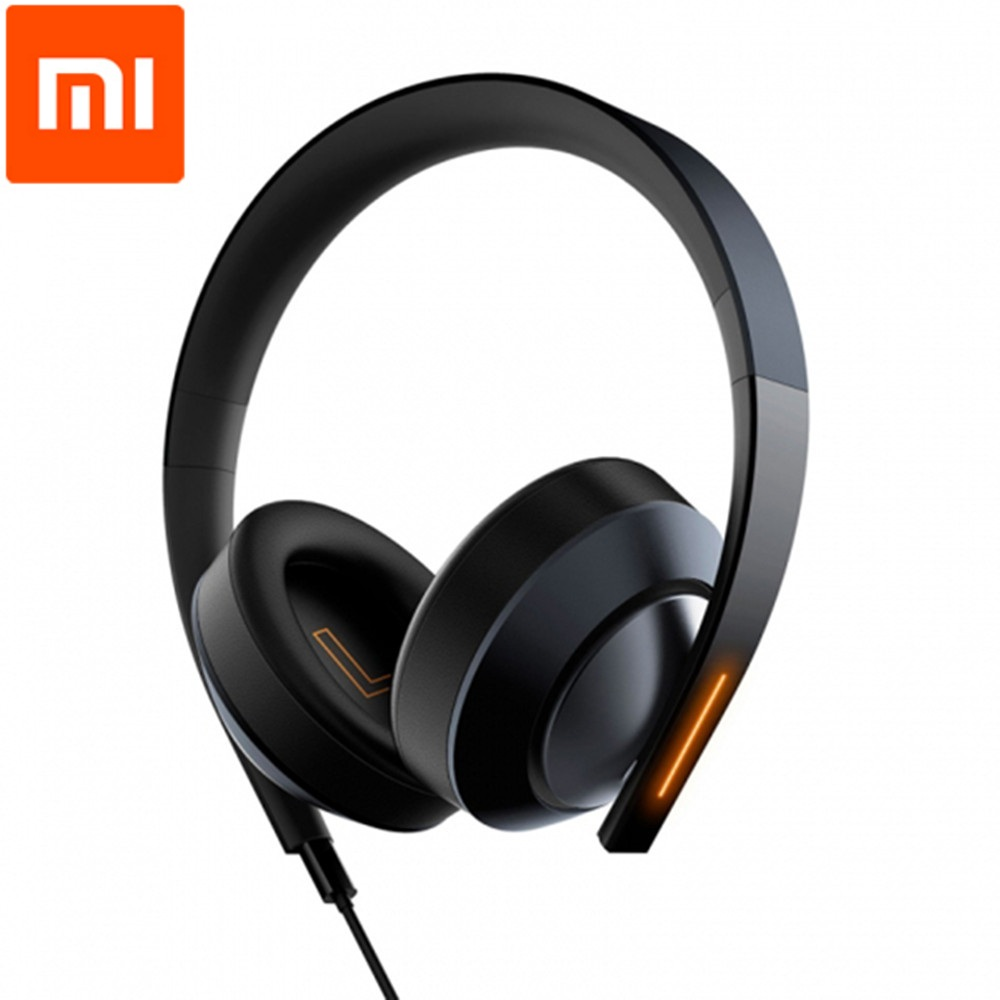 Original Xiaomi Mi Gaming Game Headset 7.1 Virtual Surround Sound Headphones with LED Light Noise Cancelling Volume Control mi headphones comfort white