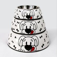 3 Size Stainless Steel Color Spray Paint Pet Dog Bowls Puppy Cats Food Drink Water Feeder Pets Supplies Non-slip Feeding Dishes