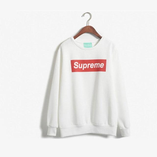 37185b6ead204 2015 New Women Fashion Sport Hoodies Spring Autumn Winter Letter Supreme  Print Paris Sweatshirt Thick Pullover Size S-L Hot Sale