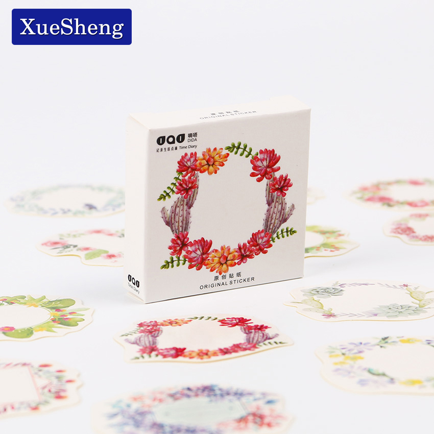 90PCS/2sets The Blooming Flower Ring Decorative Stickers Adhesive Stickers DIY Decoration Craft Scrapbooking Sticker alive for all the things are nice stickers adhesive stickers diy decoration stickers