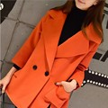 2016 nuevo invierno yardas grandes de doble botonadura abrigo de lana femenino de Corea del párrafo corto femenino Delgado abrigo